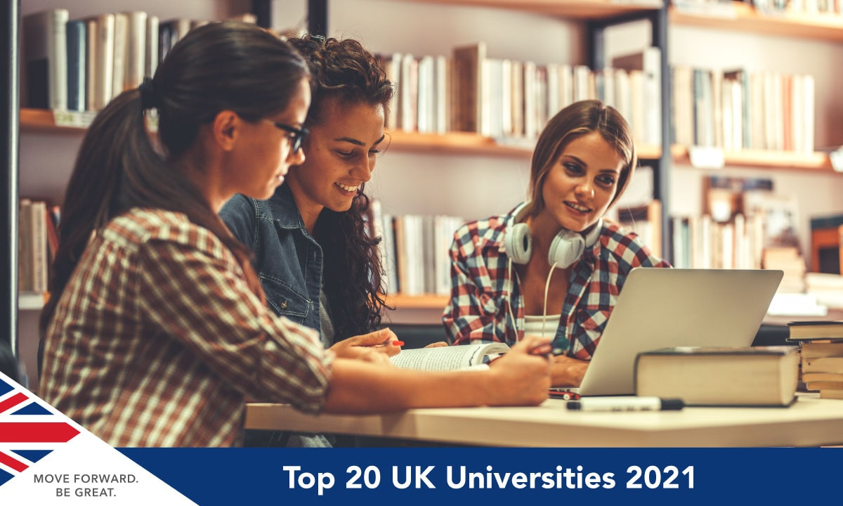 Top 20 UK University by THE Ranking 2021